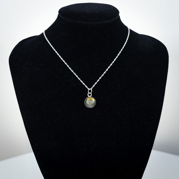 Sterling Silver and Labradorite Pendant Necklace - Simplicity