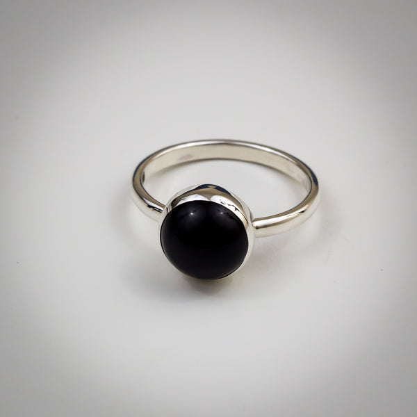 Sterling Silver and Onyx Ring - Simplicity