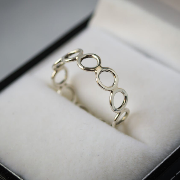 Sterling Silver Wire Loop Ring