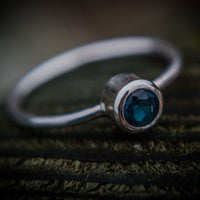 Sterling Silver And London Blue Topaz Stacking Ring