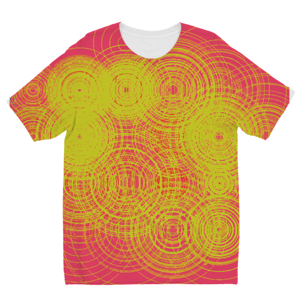 ripple - yellow Sublimation Kids T-Shirt