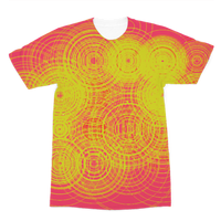 ripple - yellow Premium Sublimation Adult T-Shirt