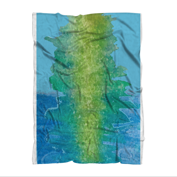 Water Sublimation Throw Blanket