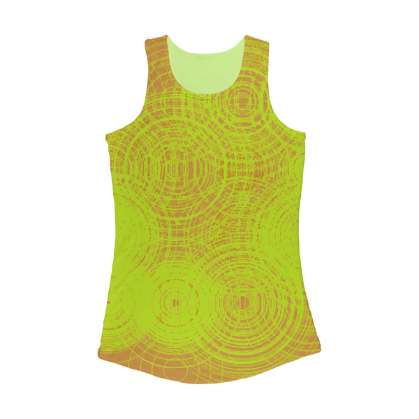 ripple - yellow Women Performance Tank Top