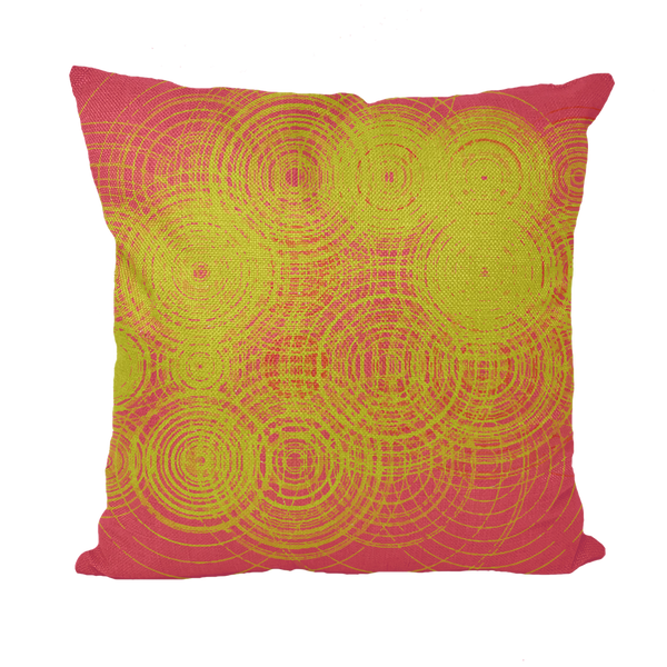 ripple - yellow Throw Pillows