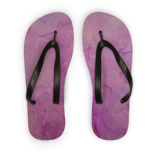 Purple salt Adult Flip Flops