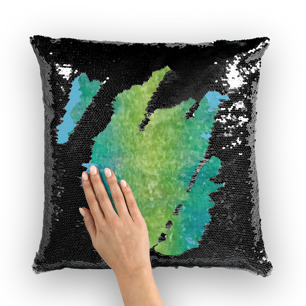 Water Sequin Cushion Cover