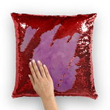 Purple salt Sequin Cushion Cover