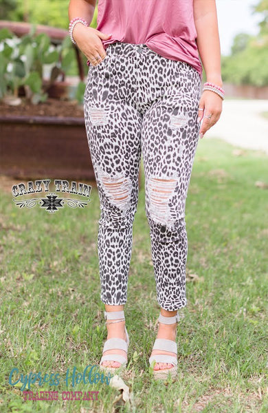 Cheetah Print Skinny Jeans - Cypress Hollow Trading Company