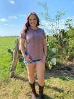 Don't Need Your Bull Vintage Maroon Bull Skull Top - Cypress Hollow Trading Company