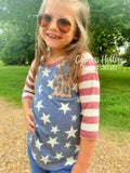 Reagan Raglan Stars, Stripes, and Leopard Top - Kids - Cypress Hollow Trading Company