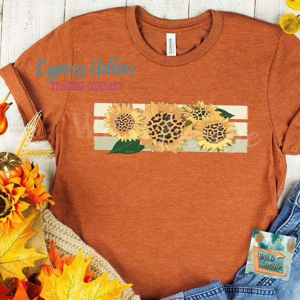 Leopard Sunflower Tee - Cypress Hollow Trading Company