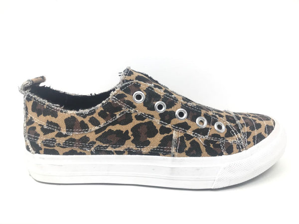 Playful Leopard Slip On Sneaker - Cypress Hollow Trading Company