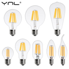 Load image into Gallery viewer, LED Light Bulb E27 E14 4W 6W 8W 220V Retro Lamp Vintage Candle Light Globe Ball Led Filament Bulb Bombillas LED Edison Bulb