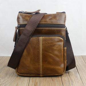 Messenger Bag Men's Shoulder Genuine Leather bags Flap Small male man Crossbody bags for men natural Leather bag