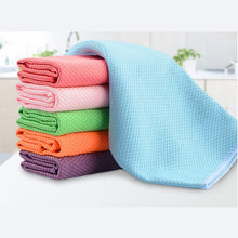 Load image into Gallery viewer, 3PCS 30 x 40cm Soft Microfiber Cleaning Towel Kitchen Absorbable Glass Window Cleaning Cloth Car Dish Towel Dust Clean Pack New