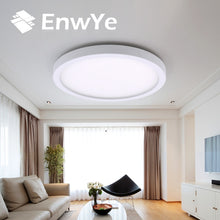 Load image into Gallery viewer, EnwYe 6W 9W 13W 18W 24W 36W 48W LED Circular Panel Light Surface Mounted led ceiling light AC 85-265V lampada led lamp