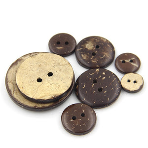 New Products Natural eco-friendly two-hole children's clothing 9mm-50mm coconut shell button NK111