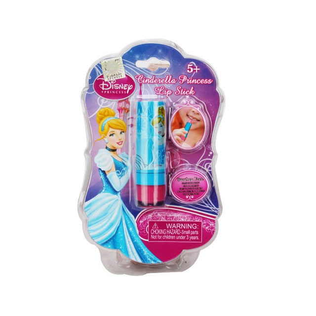 Disney Frozen Snow for Children's Cosmetics Safe Non-toxic Moisturizing Lipstick Baby Lip Gloss Girl Toys Christmas Gift