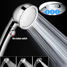 Load image into Gallery viewer, High Pressure Handheld Shower Head with ON/Off Pause Switch 3-Settings Water Saving Showerhead Chrome Bathroom Shower Accessorie