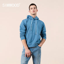 Load image into Gallery viewer, SIMWOOD 2020 Spring new hoodies men hooded logo print 100% cotton sweatshirt  jogger tracksuits plus size brand clothing SJ12035