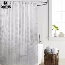 Load image into Gallery viewer, SDARISB Plastic PEVA 3d Waterproof Shower Curtain Transparent White Clear Bathroom Curtain Luxury Bath Curtain With 12pcs Hooks
