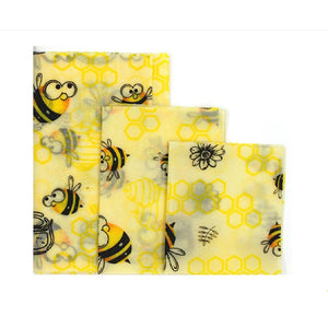 Beeswax food wrap - Reusable Bees Wax Paper Wrap Food Fruit Storage Zero Waste Sandwich Bags Food wrappers Animals Print