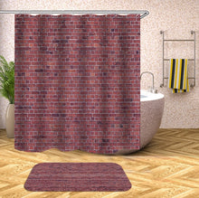 Load image into Gallery viewer, wooden 3D Shower Curtains Waterproof fabric shower curtains with hooks bathroom curtain funny bath curtain or mat