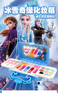 Disney frozen elsa anna Toys princess cute Makeup Sets box  Non-toxic princess Material Girls Birthday Gifts Beauty toys