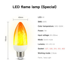 Load image into Gallery viewer, CHIZAO Flame effect decorative bulb LED dynamic flame light E12/14/26/27 Creative corn bulb Flame simulation effect Night light