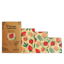 Load image into Gallery viewer, Reusable Storage Wrap Sustainable Organic Fruit Vegetable Cheese Food Wrapping Paper BPA & Plastic Free Beeswax Food Wrap