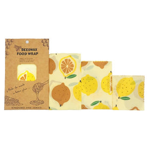 Reusable Storage Wrap Sustainable Organic Fruit Vegetable Cheese Food Wrapping Paper BPA & Plastic Free Beeswax Food Wrap