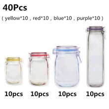 Load image into Gallery viewer, Mason Bags Jar Bottles Zipper Bag Reusable Food Storage Snack Mason Bag Seal Fresh Sealed Bags Food Saver Bags VIP Link