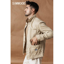 Load image into Gallery viewer, SIMWOOD 2020 spring New Cargo Jacket Fashion 100% cotton jackets high quality outwear brand clothing plus size coats SI980592