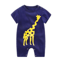 Load image into Gallery viewer, 2020 Cheap cotton Baby romper Short Sleeve baby clothing One Piece Summer Unisex Baby Clothes girl and boy jumpsuits Giraffe