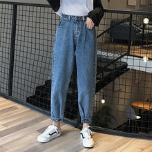 Load image into Gallery viewer, Women 2019 Mom Jeans Harem Jeans Casual Denim Pants Boyfriends Jeans Femme Trousers Ripped Jeans Vintage Retro