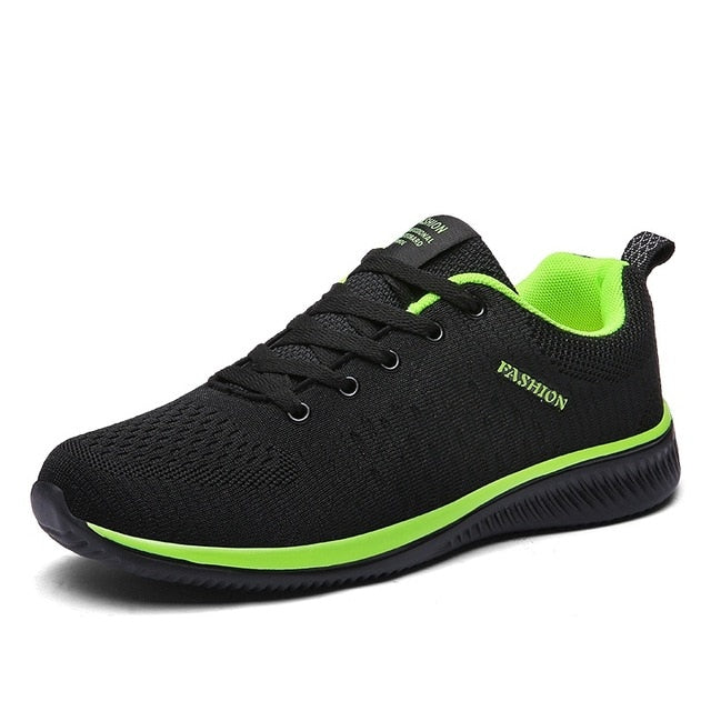 Men Running Shoes Breathable Male Comfortable Mesh Lace-up Sport Shoes Trend Lightweight Flexible Soft Outdoor Walking Sneakers
