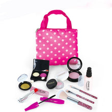 Load image into Gallery viewer, Girls Make Up Toy Set Pretend Play Princess Pink Makeup Beauty Safety Non-toxic Kit Toys for Girls Dressing Cosmetic Travel Bag