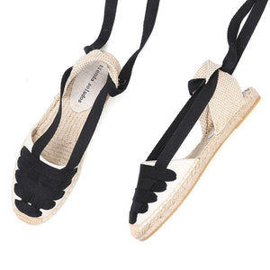 2020 Time-limited New Arrival Hemp T-strap Flat With Open Rubber Sapato Feminino Sandals Sandals Womens Espadrilles Flat Shoes