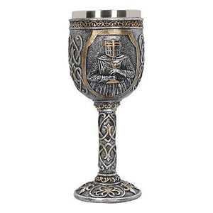 JOUDOO Skull Coffee Mug Viking Skull Beer Steins Father's Day Gift For Men Halloween Bar Cup Party Wine Goblet Cups 35