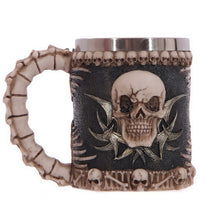 Load image into Gallery viewer, JOUDOO Skull Coffee Mug Viking Skull Beer Steins Father's Day Gift For Men Halloween Bar Cup Party Wine Goblet Cups 35