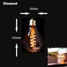 Load image into Gallery viewer, LED Dimmable Retro Edison Bulb E27 220V 3W Gold Spiral Filament ST64 A19 LED Lamp Vintage Incandescent Decorative LED Lighting