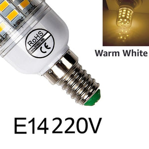 E27 LED Lamp E14 LED Bulb SMD5730 220V Corn Bulb 24 36 48 56 69 72LEDs Chandelier Candle LED Light For Home Decoration