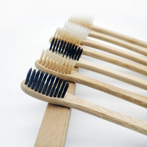 10Pcs Toothbrush Soft Bristle Wooden Tooth Brush Natural Bamboo Handle Dental Oral Care Eco Friendly Travel Tooth Brush