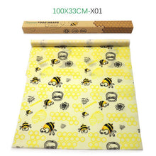 Load image into Gallery viewer, Reusable beeswax fresh-keeping packaging sealed food packaging film vacuum food storage beeswax fresh cloth kitchen tools