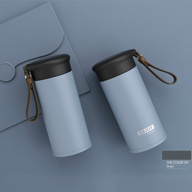 OWNPOWER Quality Double Wall Stainless Steel Vacuum Flasks 280ml Car Thermo Cup Coffee Tea Travel Mug Thermol Bottle Thermocup