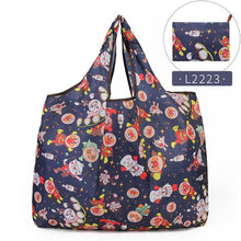 Load image into Gallery viewer, Folding Shopping Bag Eco-friendly Reusable Portable Shoulder Handbag for Travel Grocery Fashion Pocket Tote Bags