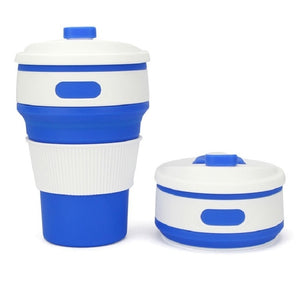 Coffee Mugs Travel Collapsible Silicone Cup Folding Water Cups BPA FREE Food Grade Drinking Ware Mug Tea Coffee Cups