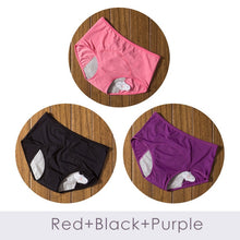 Load image into Gallery viewer, 3pcs/Set Menstrual Panties Women Sexy Pants Leak Proof Incontinence Underwear Period Proof Cotton Briefs High Waist Warm Female