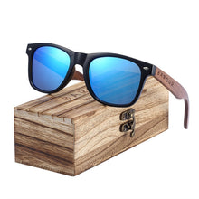 Load image into Gallery viewer, BARCUR Black Walnut Sunglasses Wood Polarized Sunglasses Men Glasses Men UV400 Protection Eyewear Wooden Original Box
